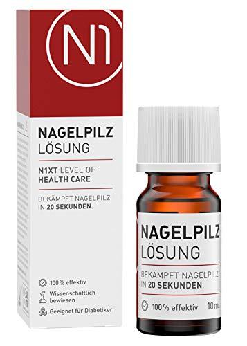N1 NAGELPILZ LÖSUNG – 10 ml - Stoppt Nagelpilzausbreitung in 20 Sekunden - Premium Apothekenprodukt - einfach & hygienisch anzuwenden - vorbeugender Schutz - patentierter Wirkstoff - belegte Wirkung