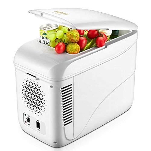 GXT Coche Frigorífico Mini Nevera pequeña refrigeración doméstica pequeña portátil Dormitorio frío y Caliente Frigorífico Mini (Color : White)