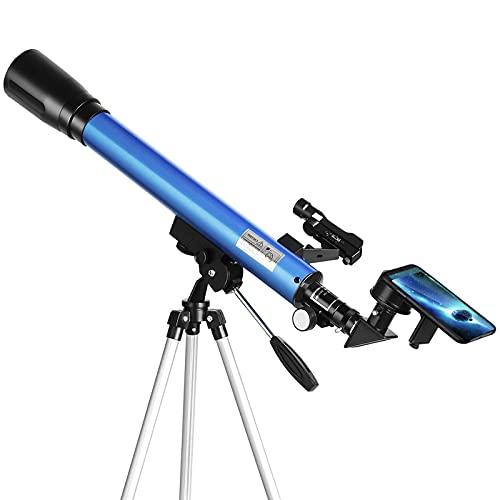 Professionelle Teleskop Astronomisches Teleskope Reflektor mit Sucherfernrohr, Verstellbarem Stativund Smartphone Adapter Ideal für Erwachsene und Anfänger Amateure