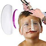 Saftybay Disposable Face Shield Hair Salon Face Cover Barber Supplies Transparent Plastic Bang Trimmer Kits Adhesive Strip Hair Cutting Tools for Home Kids Adults 50Pcs