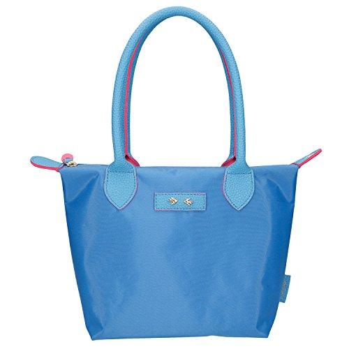 Depesche 10085 - Trend Love handtas, lichtblauw, ca. 31 x 21 cm.