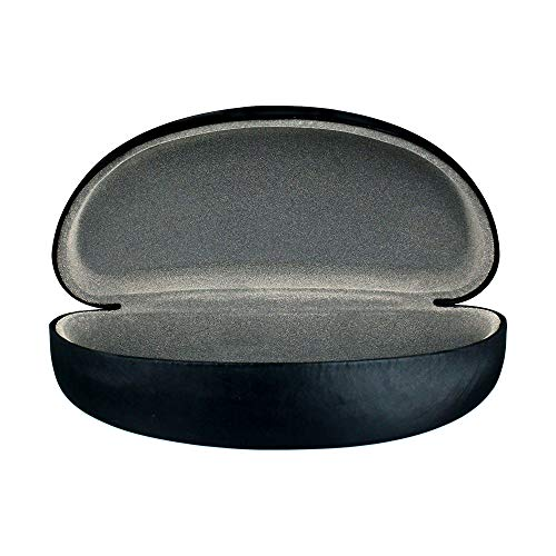 Sunglass Case Hard Shell   Large Eye Glasses Case For Men And Women   Protective Holder for Eyewear   Fits Most Eyeglasses   Satin Black And Grey