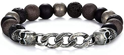 GMZPP Armband voor heren, boeddha, yoga-parels, natuursteen