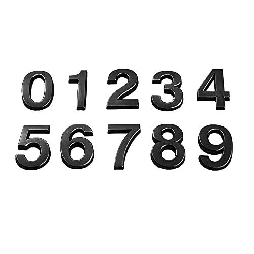 Juego de números de buzón Autoadhesivo de 10 Piezas de 0 a 9 Pegatinas de número de Puerta de dirección de Puerta de casa para cartelera de Oficina de Hotel de Apartamentos