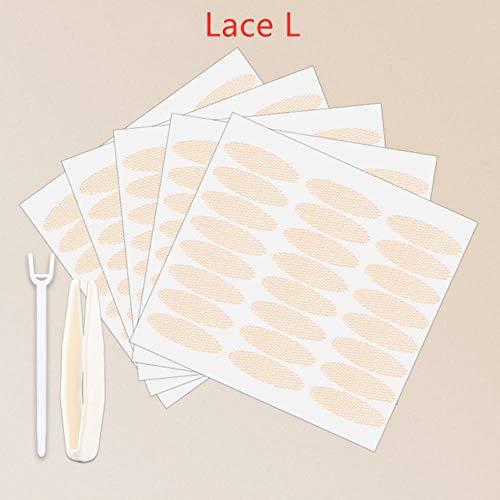 LLine 240pcs 5 Packs Gauze Mesh Lace Invisible Double-Fold Eyelid Sticker Transparent Invisible Auto-Adhesive Paupière Tape Sticker, 22 Pairs