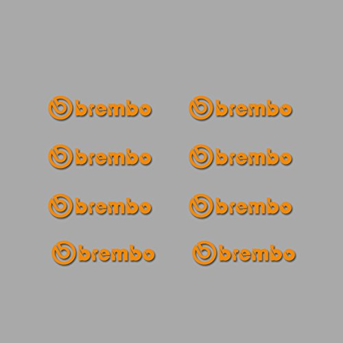 Ecoshirt 8K-G112-WE01 Brembo Am5 Stickers Aufkleber Decals Stickers Adhésifkleber Decals Adhésifs Orange