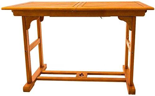 Amicasa. Tavolo da Giardino Allungabile in Legno Rettangolare 120/160x70cm Velden