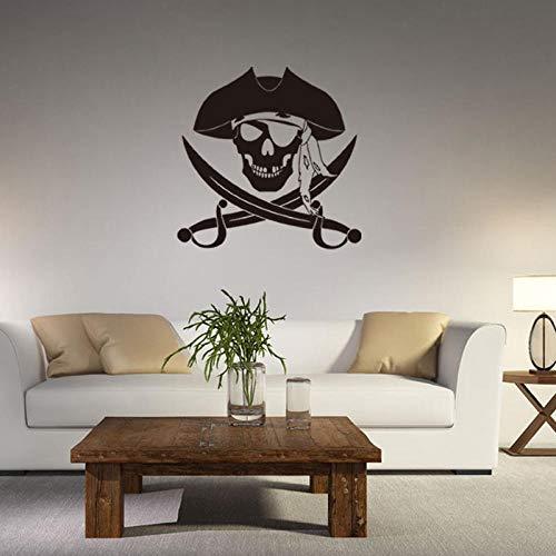 Cooldeer stickers voor aan de muur, gesneden, Captain Pirat met diermotieven