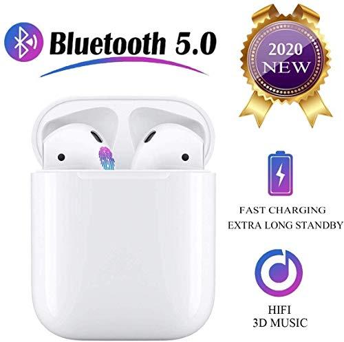 I11-TWS Dual Bluetooth 5.0 Auriculares Inalámbrico HiFi Reducción de Ruido Subwoofer Deportivo Auriculares estéreo en la Oreja con Llamada Manos Libres para Apple Airpods iOS Android