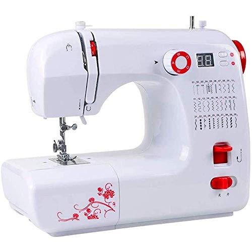 Zhihao Mini máquina de Coser, hogar portátil Integrado 30 Kit de Costura Puntadas electrónica Máquina de Coser con Puntada de ratón Control Antideslizante, máquina del Bordado