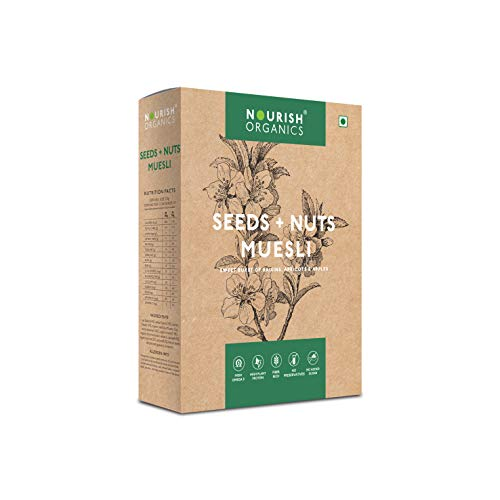 Nourish Organics Seeds and Nuts Muesli 300g, | Raisins | Apricots & Apples (Single Pack)