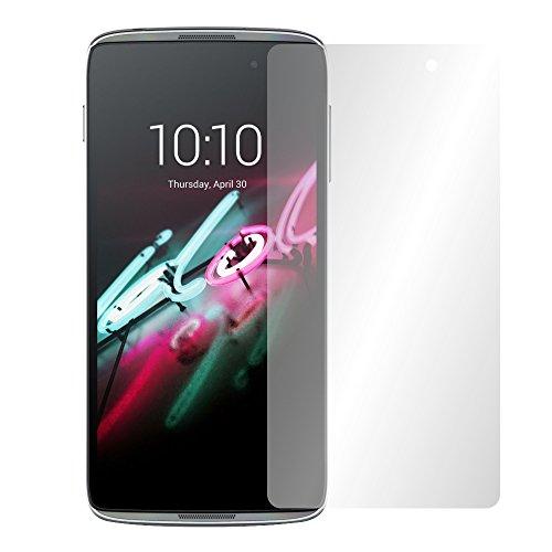Slabo 4 x Bildschirmschutzfolie für Alcatel Onetouch Idol 3 (5,5 Zoll) Bildschirmschutz Schutzfolie Folie Crystal Clear unsichtbar Made IN Germany