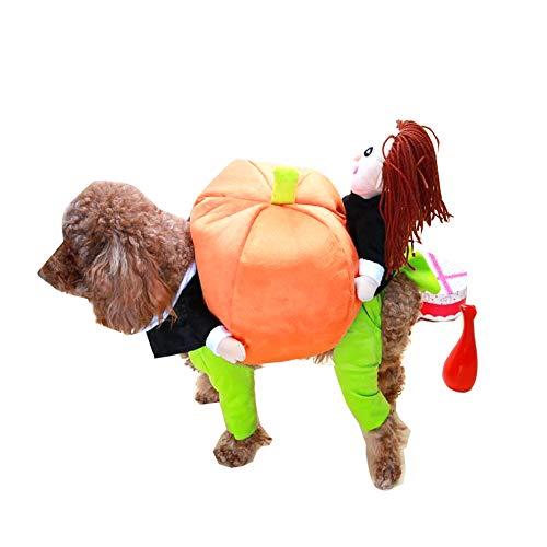 Cat Planet Disfraz de Perro de Halloween, Perro Vestido Calabaza Encima de...