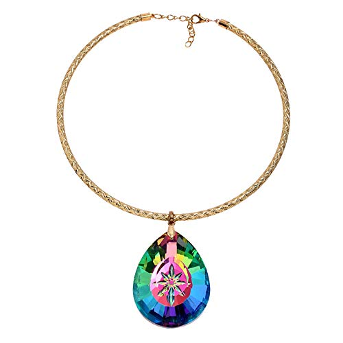 ZTANPS Womens Vintage Ethnic Carved Colorful Chunky Collar Necklace Necklace India Exaggerated Jewelry