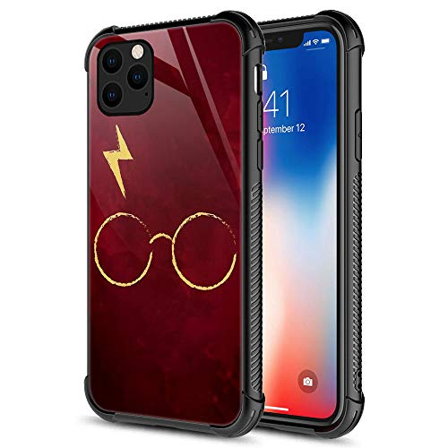 CARLOCA iPhone 11 Case,Harry Glass Flash Red iPhone 11 Cases for Men Boys Teenagers,9H Tempered Glass Graphic Design Shockproof Anti-Scratch Tempered Glass Case for Apple iPhone 11