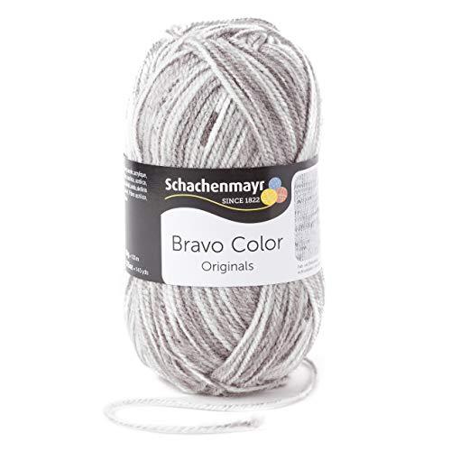 Schachenmayr Handstrickgarne Bravo Color, 50g Hellgrau Denim