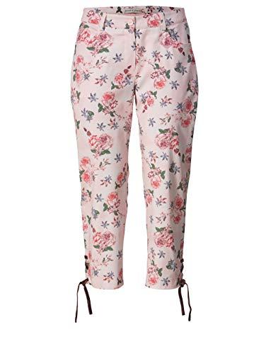 Janet & Joyce Damen 7/8 Trachten-Hose mit Blumen-Print Multicolor 46 Baumwolle