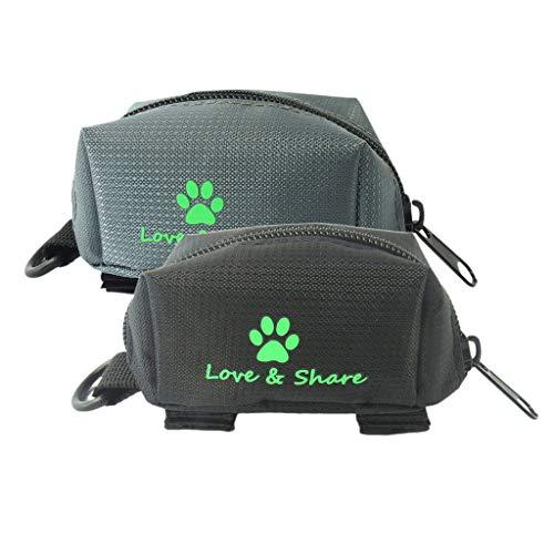 FutuHome 2pcs Portable Dog Walking Poo Taschen Snacks Treat Taschen Für Haustier Katze Welpe