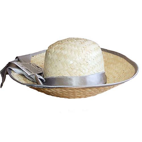Années 1920 Flapper Chapeau Chicago Vintage Chapeau de paille argent
