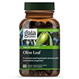 Gaia Herbs Olive Leaf, 680mg Vegan Capsules, 120 Count - Daily Immune Support and Cardiovascular Health Supplement, Natural Vegan Antioxidant Support
