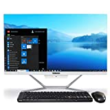 WEIDAIN All in One Desktop PC with Windows 10,23.8 Inch Intel Core i5-4200U, 8GB RAM,512GB SSD, AIO Desktop Computer,VGA HDMI 2×USB3.0 4×USB2.0 LAN WiFi