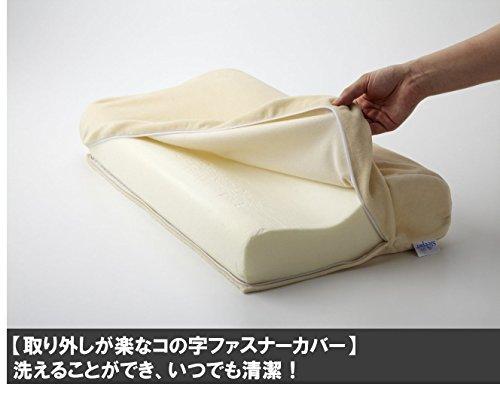 ショップジャパントゥルースリーパープレミアムネックフィットピロー低反発枕ホワイト【正規品】