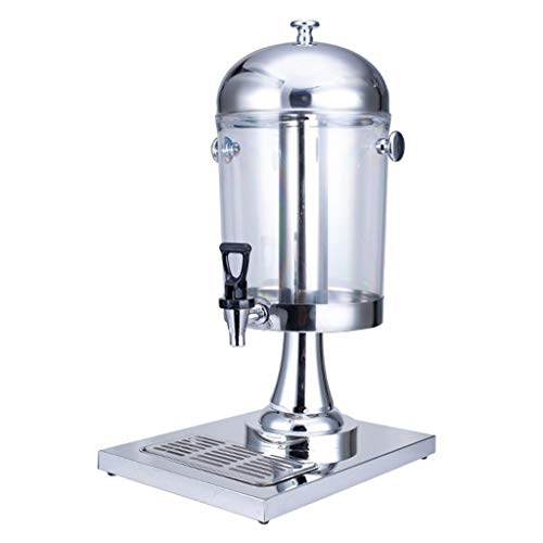 Find Bargain Outdoor Glass Beverage Dispenser Home Stainless Steel Beverage Dispenser with Ice Conta...