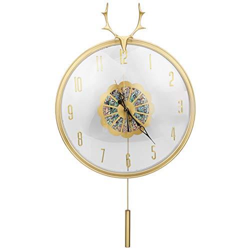 Jingyig Reloj de Pared Retro, Reloj Colgante oscilante, Reloj de Pared para Sala de Estar, Reloj de decoración de Pared para Oficina, hogar