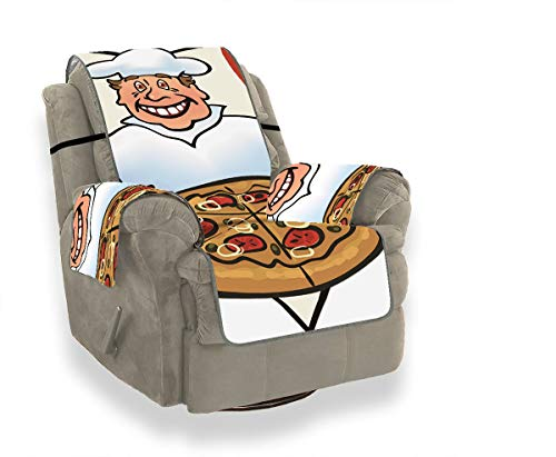 JOCHUAN Cook Pizza On Italian Flag Big The Sofa Cover Sofa Cushion Covers Slipcover Chair Furniture Protector For Pets, Kids, Cats, Sofa