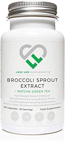 Broccoli Sprout Extract + Matcha Green Tea Extract by LLS | Contains Activated Sulforaphane | 60 Capsules |15000mg of Whole Plant Equivalent per Serving | Potent Antioxidant Content