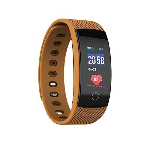 Ningz0l Fitness Tracker Smart Armband Horloge Hartslag Bloeddruk Monitoring Bluetooth Kleur Scherm Gezond Sport Armband Koffie
