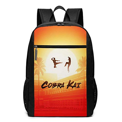 IUBBKI Cobra Kai 17 Inch Laptop Backpack USB Charing & Slim Travel Computer Back Pack for College Business