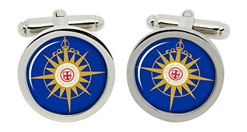 Gift Shop Anglican Kommunion Manschettenknöpfe in Chrom Kiste