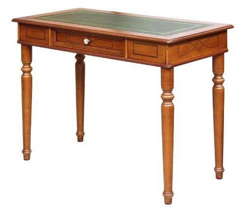 Schreibtisch mit Lederplatte 1 Schublade
