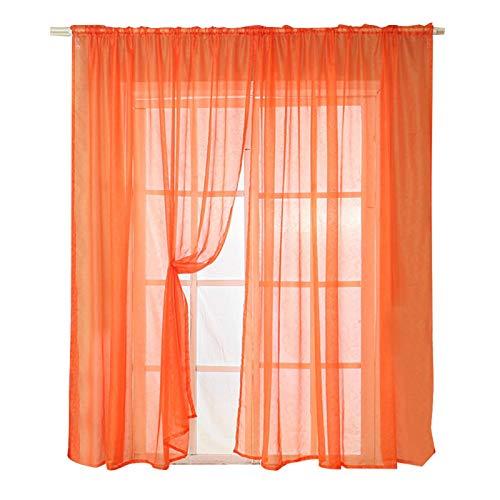 Fockety Cortina Transparente Cortinas de Lujo Suaves y duraderas, Textiles para el hogar, Cortinas de Sala de Estar de Estilo contemporáneo para baño para el hogar para(Orange)
