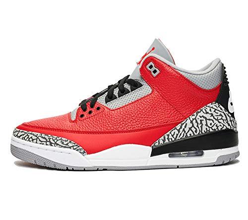 Nike Air Jordan 3 Retro Se Ck5692-600 Chaussures de basketball tendance pour homme, rouge (Rouge), 46 EU