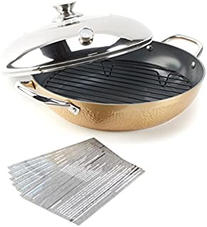 Simply Ming Elite Hammered Ceramic Nonstick Stovetop Oven - Gold