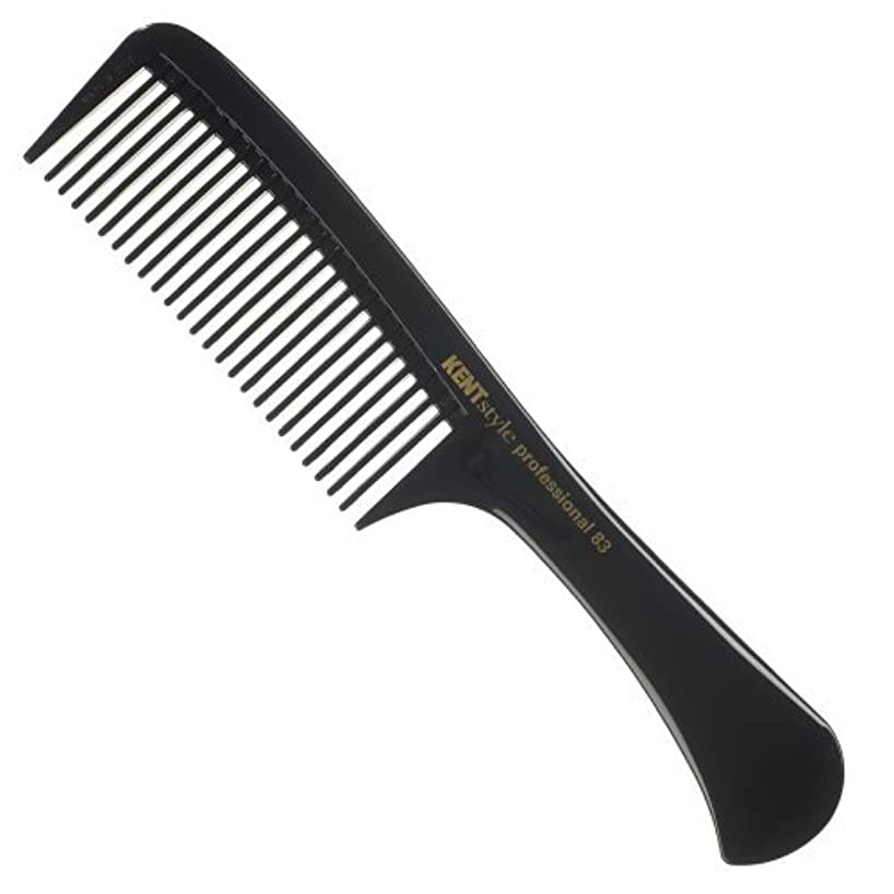 光沢のある手を差し伸べる親Kent Style Professional Combs (Black) - Hard Rubber, Anti-static, Unbreakable & Heat Resistant - Salon & Barber Quality (SPC83) [並行輸入品]