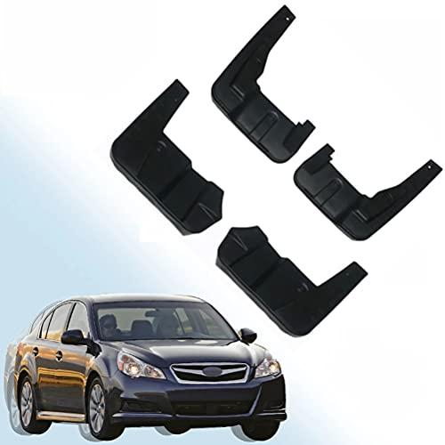 WXHBB Car Fender Front Rear Mud Flaps Guard Splash Mudflaps Mud Flap Mudguards For Subaru Legacy Sedan 2010-2014, Car Exterior Decoration Accessories,4 Pcs