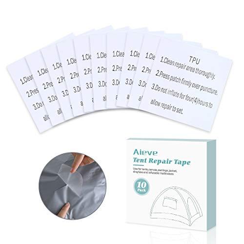 AIEVE 10 Stück Reparatur Patch Tape Transparent Reparatur Flicken Selbstklebender Folie Set für Swimming Pool Planschbecken Schwimmbad Familienpool Zelte