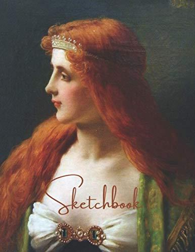 SKETCHBOOK: Large Sketch Book for Drawing, Sketching, Coloring, Doodling, Victorian Era Ladies
