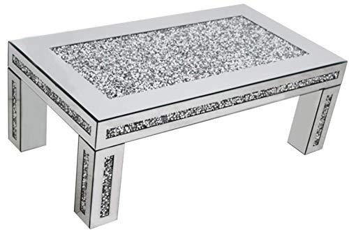 Gatsby mirrored glass crush diamond coffee table