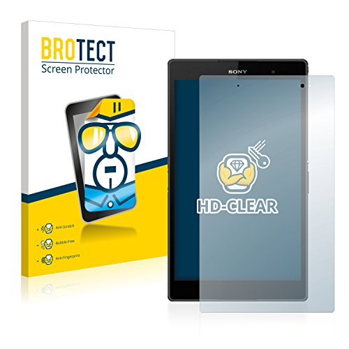BROTECT Schutzfolie kompatibel mit Sony Xperia Z3 Tablet Compact SGP611, SGP612 (2 Stück) klare Bildschirmschutz-Folie