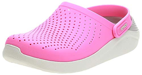 Crocs Unisex-Erwachsene LiteRide Clogs, Pink (Electric Pink/Almost White 6qv), 37/38 EU
