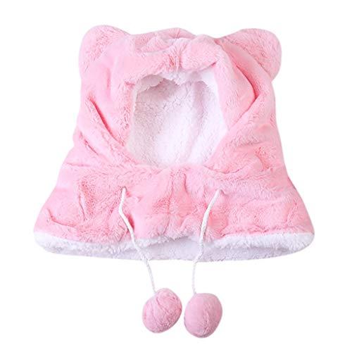 AYDQC Sombrero de Invierno para bebé niña niño Ajustable niño bebé niña Bufanda Grueso Orejeras Grifo Proteger Cara Cuello Gorras Sombreros (Color : B)