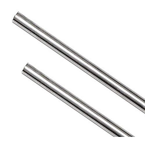 LOKIH 2pcs Longitud 600 mm de Aluminio Redondo sólido de Rod Torno...