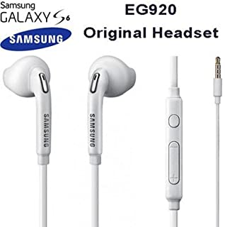 TPC© Headphones Handsfree Original Samsung EO-EG920LW for Galaxy S6, S7, Edge, Plus, Note 4.5, Headset Earbuds, White ?