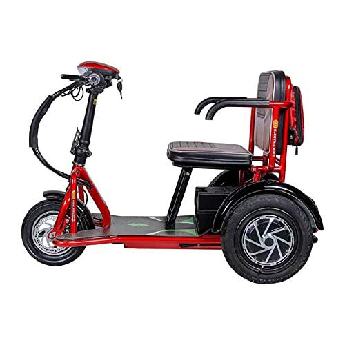 SUYUDD Scooter Eléctrico Plegable De Movilidad De 3 Ruedas, Scooter Eléctrico Portátil...