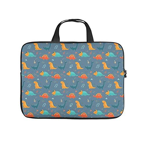 Bolsa para portátil resistente al agua con diseño de dinosaurios y animales, ideal para el trabajo, el negocio