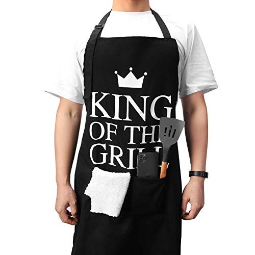 Glotoch Funny Aprons - Grilling Cooking Baking Chef Apron with 2 Large Pockets for Men Boyfriend Dad Ideas for Birthday Valentine